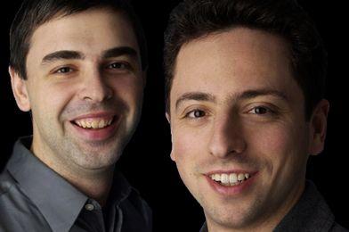 Larry Page y Serguéi Brin - fundadores de Google - compañía con éxito empresarial.