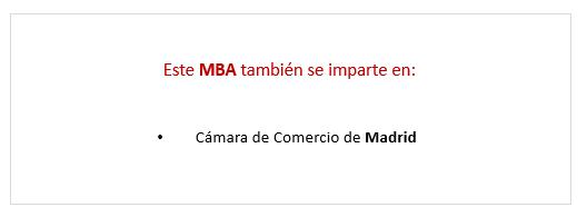 Precio Executive MBA en Asturias