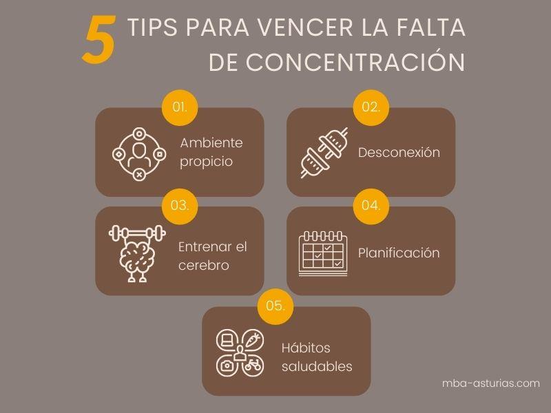 Tips para vencer falta de concentración